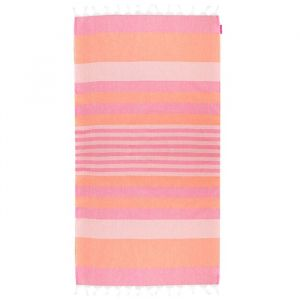 Beach Hammam Towel - Pink/Orange