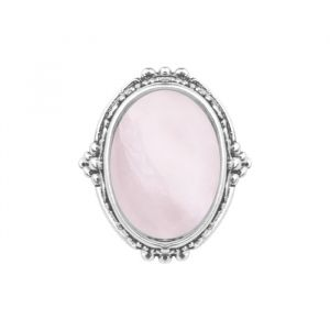 Silver Detailed Ring - Pink