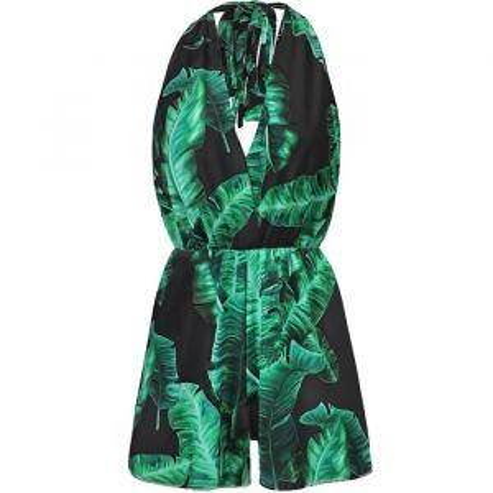 Leaf Playsuit - Black