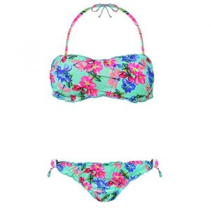 Flower Bandeau Bikini - Mint