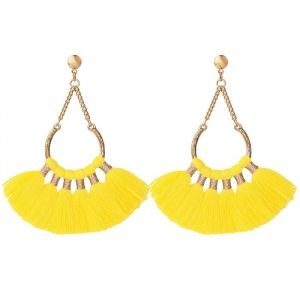 Boho Earrings Yellow - Gold/Silver