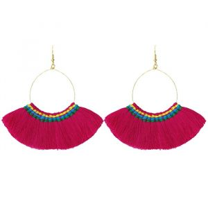 Multi Tassel Earrings - Multicolor