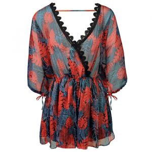 Tropical Playsuit - Blue/Red
