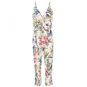 Flower Ruffle Jumpsuit - White