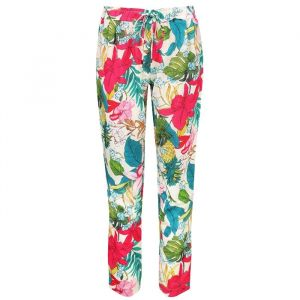 Tropical Flower Pantalon - White