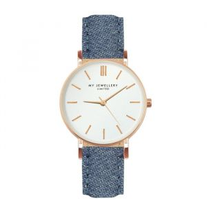 My jewellery limited watch small 2.0 - Denim/rosegold