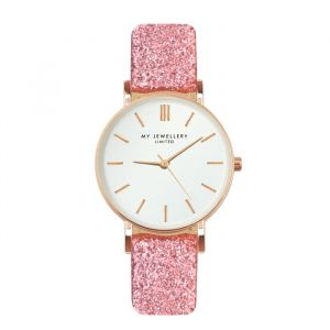 My jewellery limited watch small 2.0 - pink glitter/rosegold