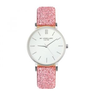 My jewellery limited watch small 2.0 - pink glitter/silver