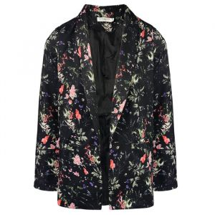 Chique Floral Blazer - Black