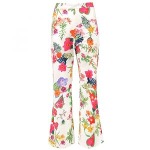 Flower pantalon - White