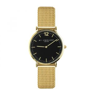 My Jewellery watch small mesh - black/gold