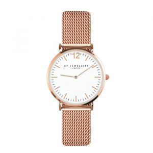 My Jewellery Watch Small Mesh - White/Rosé