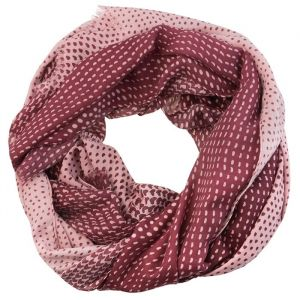 Dotted Scarf - Old Pink/Burgundy