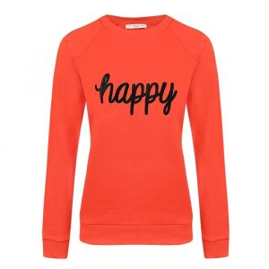 City Sweater Happy - Red/Black