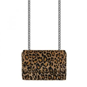 Crossbody Chain Clutch - Leopard Brown