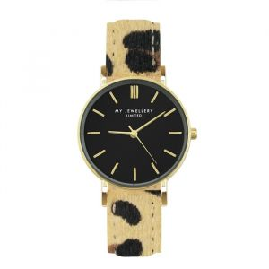 Leopard Watch - Brown/Gold
