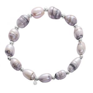 Pearl Beads Bracelet - Grey