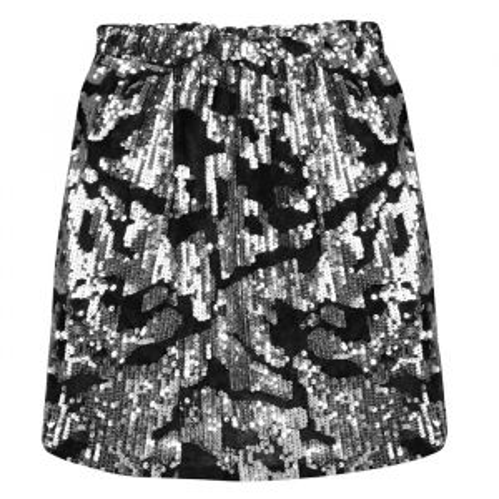 Sequin Skirt - Silver