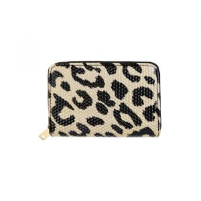 Small Glitter Wallet - Leopard