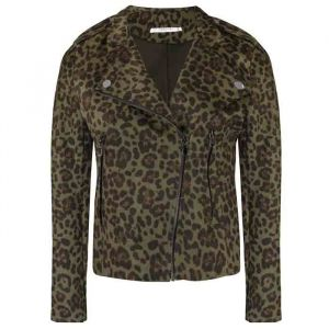 Leopard Biker Jacket 2.0 - Black/Army