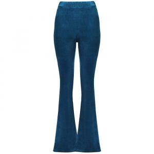 Flared Velvet Pants - Blue