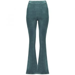 Flared Velvet Pants - Light Blue