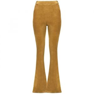 Flared Velvet Pants - Ocher