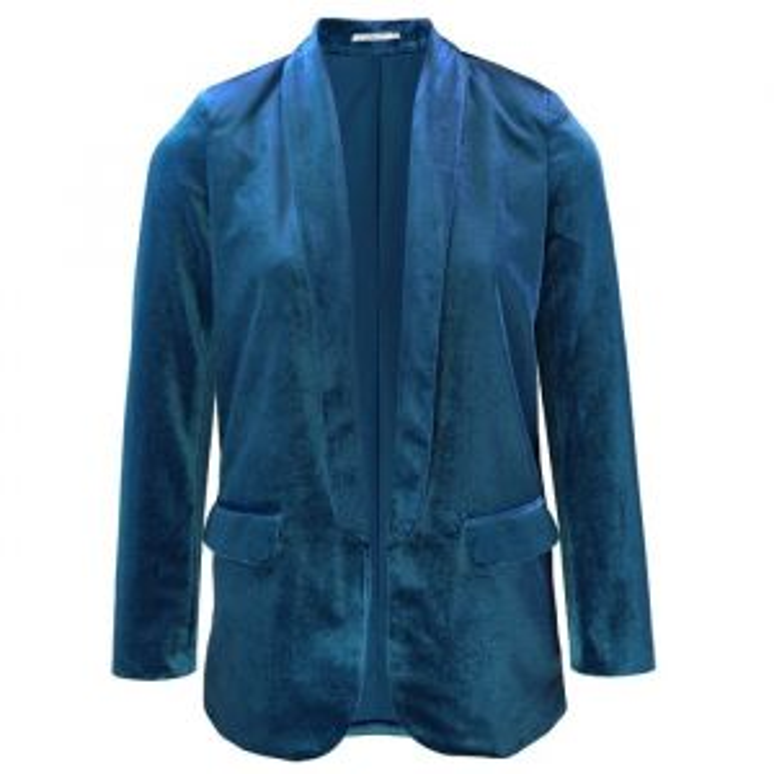 Velvet Blazer - Blue