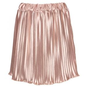 Metallic Plissé Skirt - Light Pink