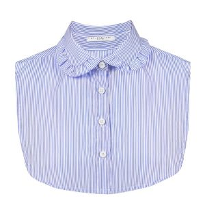 Striped Ruches Collar - Blue/White