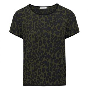 Leopard T-Shirt - Green/Blue