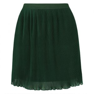 Ruffle Plissé Skirt - Green