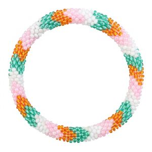 Little Beads Bracelet - Green/Orange