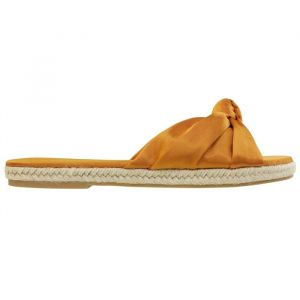 Satin Knot Flip Flops - Orange