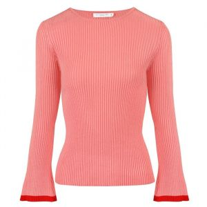 Flared Sleeve Top - Red/Pink