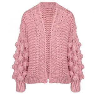 Handmade Knitted Cardigan - Light Pink