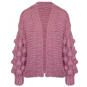 Handmade Knitted Cardigan - Lilac