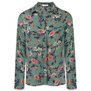 Floral Blouse - Old Blue