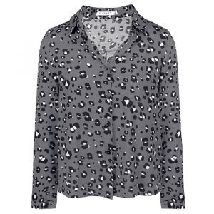 Leopard Blouse - Grey