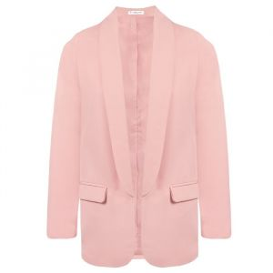 Feminine Suit Blazer - Light Pink