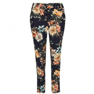 Floral Suit Pants - Blue