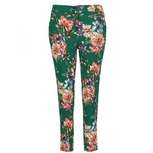 My Jewellery Pantalon bloemenprint groen