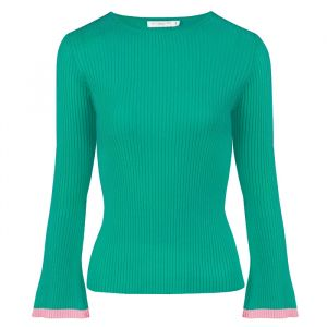 Flared Sleeve Top - Teal/Pink
