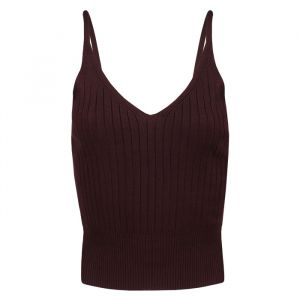 Bordeaux Knitted Top-S/M