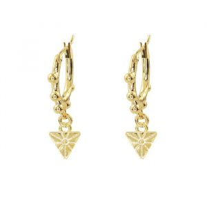 Earring Triangle Dots – Gold/Silver-Goud