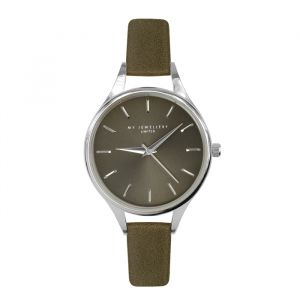 Classic Watch Army Green-Zilver