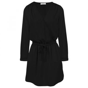 Black Plain Dress With Elastic Waist