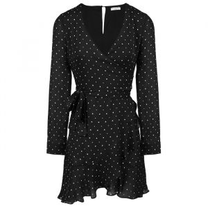 Longsleeve Star Wrap Dress-S
