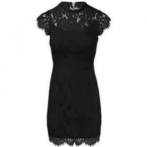 Open Back Lace Dress 2.0 - Black-S