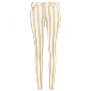 Metallic Striped Jeans - Gold